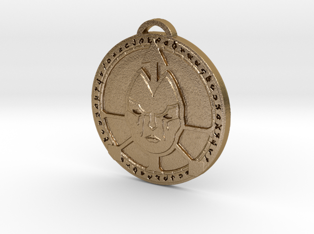 Undercity Faction Medallion in Polished Gold Steel