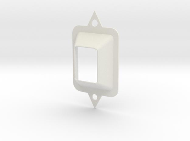 Classic Radio Component  in White Natural Versatile Plastic