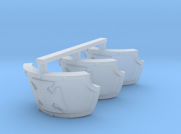 Elite Centaur schoulder pads x3 in Smooth Fine Detail Plastic
