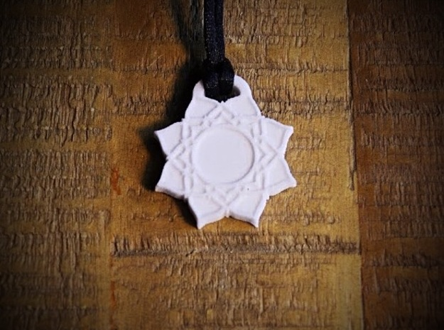 Crown Chakra Aromatherapy Pendant in Natural Sandstone