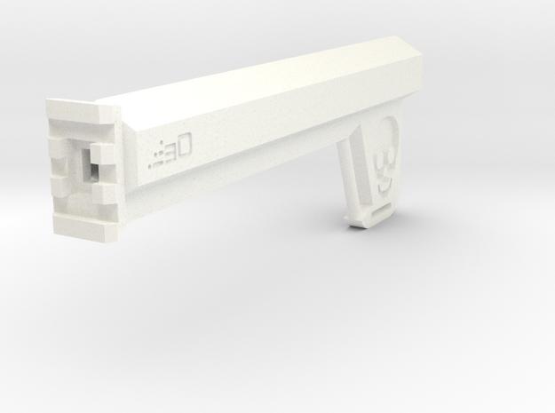 Hexa Blade Brace (192mm Long) in White Processed Versatile Plastic