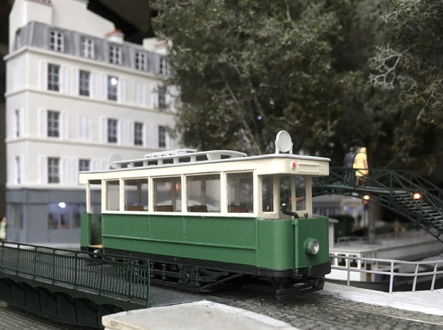 Tramway Paris type 300 - Ho in Smooth Fine Detail Plastic