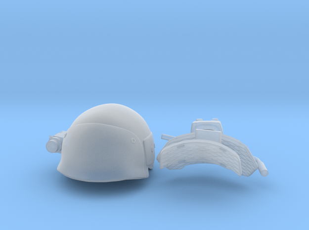 helmet uscm in 1:6 scale in Smooth Fine Detail Plastic