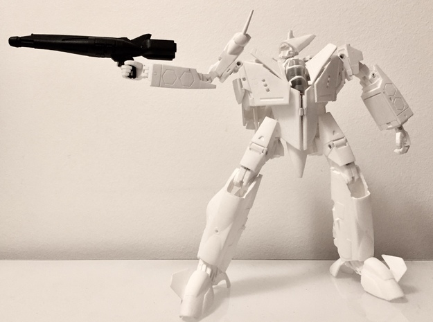 VF-9 Gunpod in White Natural Versatile Plastic