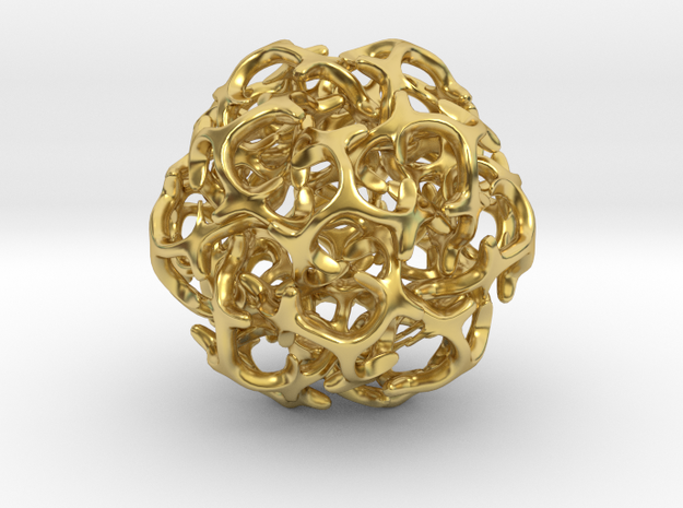 Ball 20 in Polished Brass: 6mm
