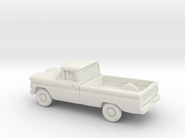 1/64 1961 Chevrolet C-10 Fleetside in White Natural Versatile Plastic