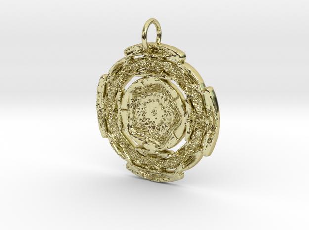 Runic Filigree Star Pendant in 18K Yellow Gold: Large