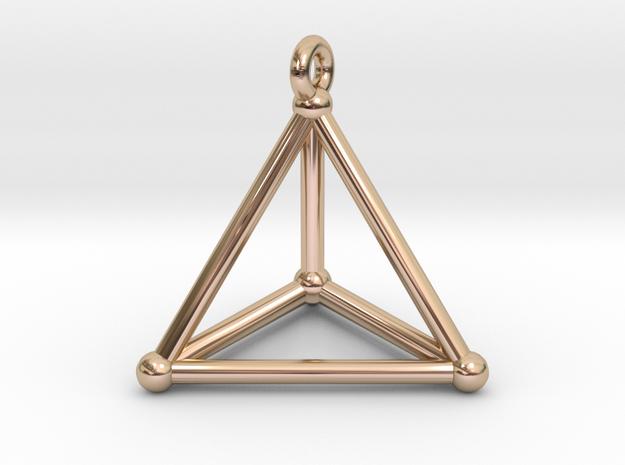 Hypersimplex Pendant in 14k Rose Gold Plated Brass