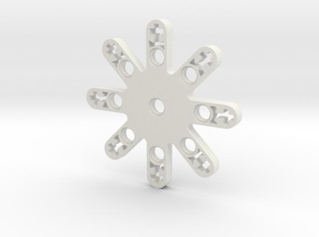 LEGO THRUSTER STAR SMALL in White Natural Versatile Plastic