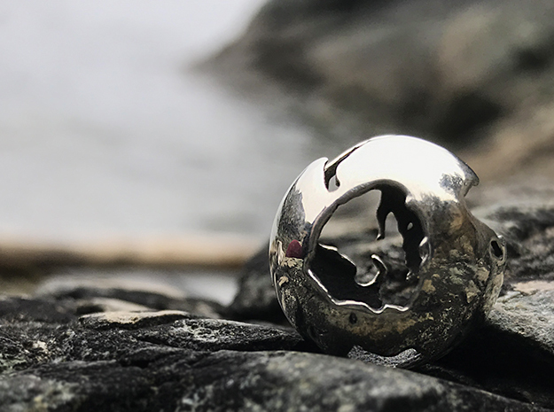 One River - Pendant - Earth Works in Antique Silver