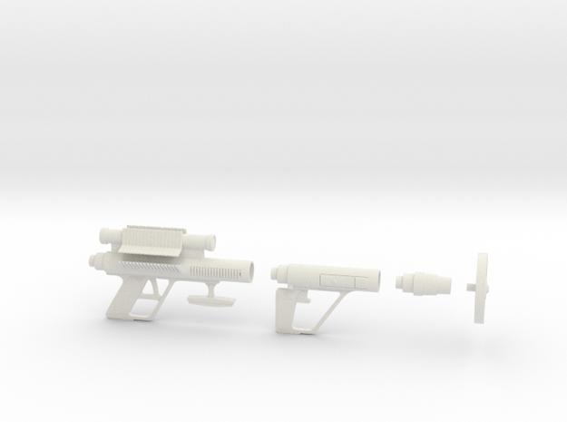 """Roto-Jet Gun  1:6   1/6   Scale  12"""" Figure in White Natural Versatile Plastic"""