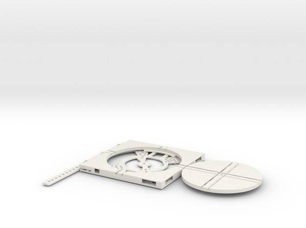 T-65-wagon-turntable-84d-75-plus-base-flat-1a in White Natural Versatile Plastic