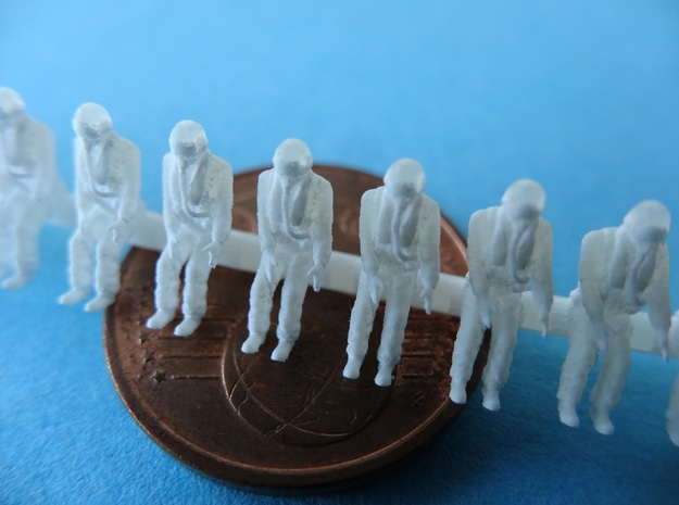 144-H0065: 16 modern fighter pilots Sitting 1:144  in Smoothest Fine Detail Plastic