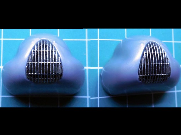 1/32 Auto Union Type D front grill in Smoothest Fine Detail Plastic