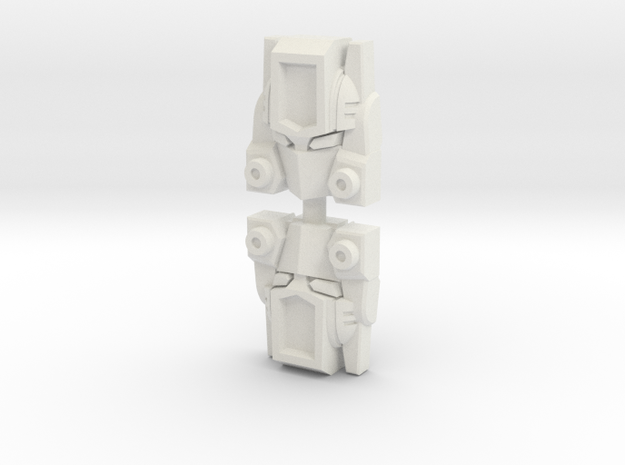 G2 Smokescreen Titan Faceplate in White Natural Versatile Plastic: Large