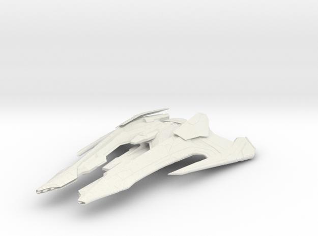 Jem'Hadar Vanguard Warship in White Natural Versatile Plastic
