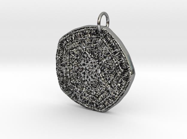 Egyptian Star Cartouche Pendant in Antique Silver: Medium