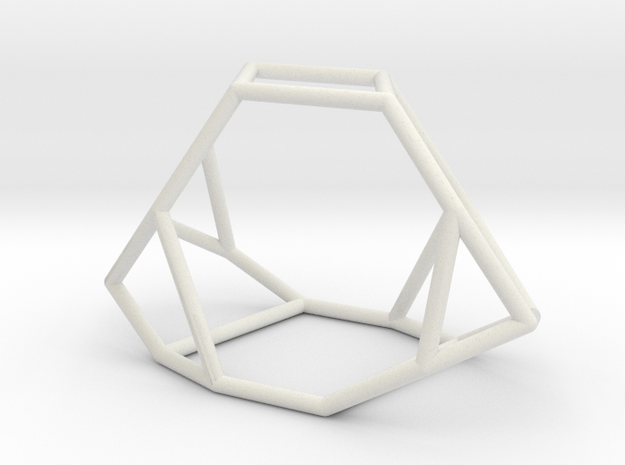 """""""Irregular"""" polyhedron no. 2 in White Natural Versatile Plastic: Large"""