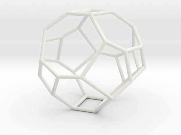 """""""Irregular"""" polyhedron no. 3 in White Natural Versatile Plastic: Large"""