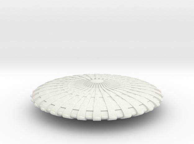 UFO12-N-scale in White Natural Versatile Plastic