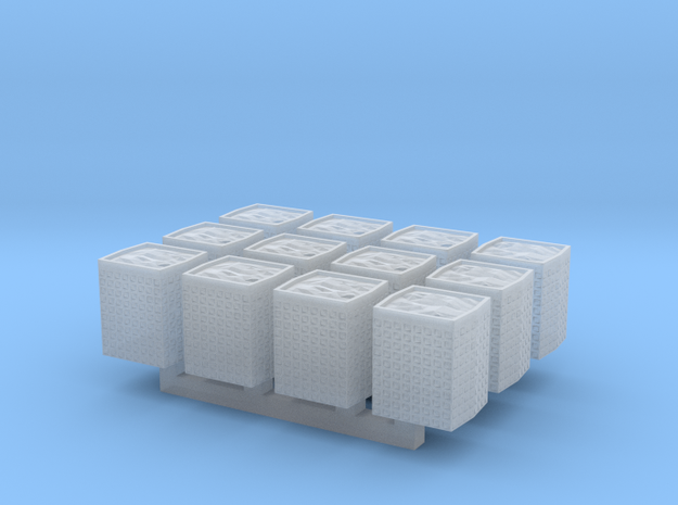 1:285 Hesco Barrier set of 12 in Smooth Fine Detail Plastic