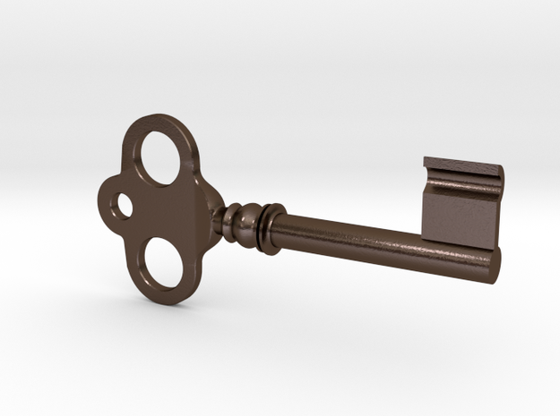 Simple Antique Key in Polished Bronze Steel