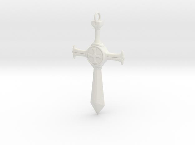 RaveStone Pendant  in White Natural Versatile Plastic: Large