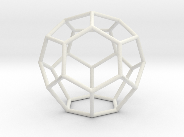 Fullerene with 16 faces, no. 1 in White Natural Versatile Plastic