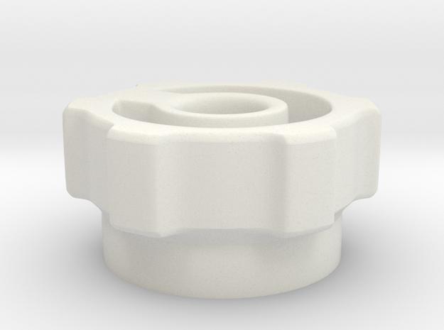 knob indented in White Natural Versatile Plastic