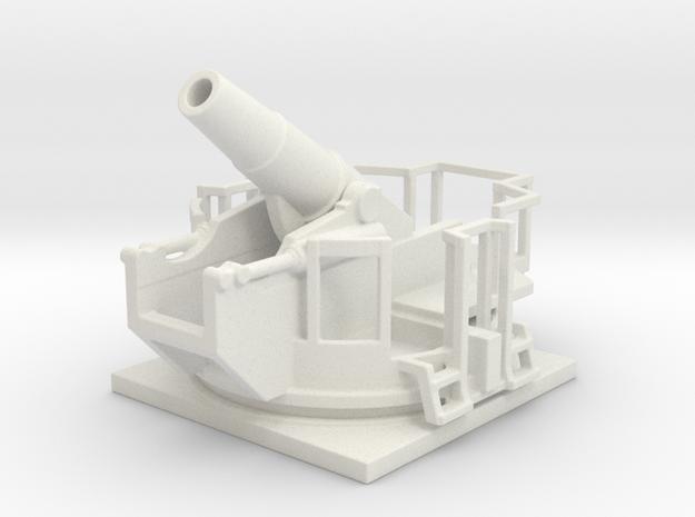 28cm haubitze l/12 1/72  in White Natural Versatile Plastic