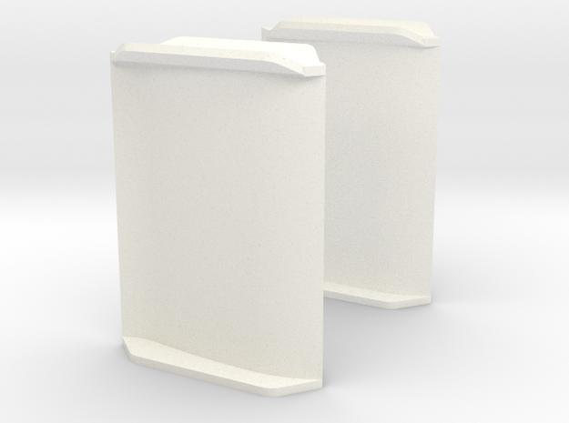Doppelruder / Roer voor binnenvaartschepen in White Processed Versatile Plastic: 1:50