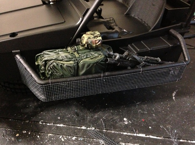 FA30004 Desert Patrol Vehicle Side Racks 3d printed Parts shown painted with wire mesh and accessories added (sold separately)
