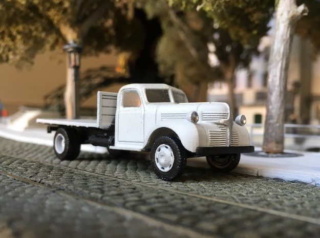 Dodge flatbed truck 1940 - HO 1:87 in Smooth Fine Detail Plastic