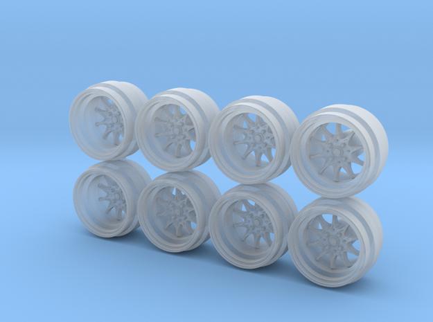 JNC 003 8-0 Hot Wheels Rims in Smoothest Fine Detail Plastic