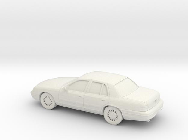 1/87 2003 Ford Crown Victoria in White Natural Versatile Plastic