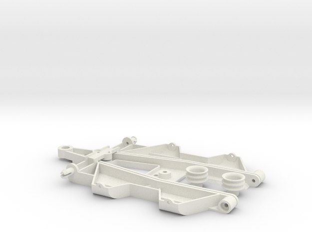 """Complex 2 """"Back to '60"""" chassis in White Natural Versatile Plastic"""