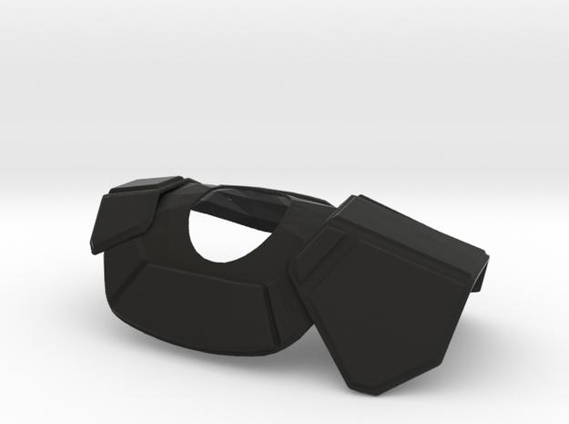 Clone Commander Pauldron for 6 inch in Black Natural Versatile Plastic
