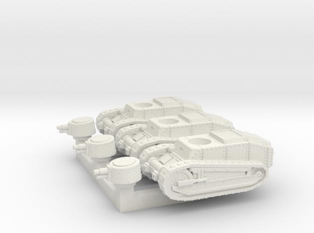 M Tank Set in White Natural Versatile Plastic