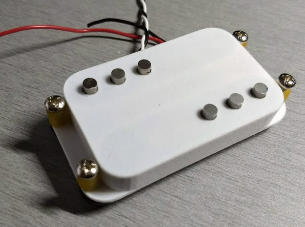 Strat PU Cover, Double Wide, WR in White Processed Versatile Plastic