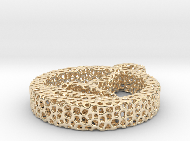 724yoga16 voronoi in 14k Gold Plated Brass