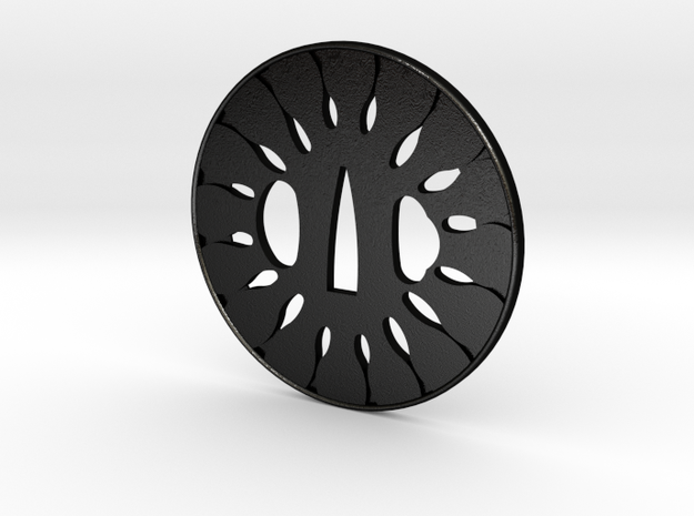 Tsuba wheel  in Matte Black Steel