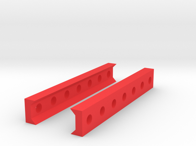 Low Profile Picatinny to Picatinny Clamp (7 Slots) in Red Processed Versatile Plastic