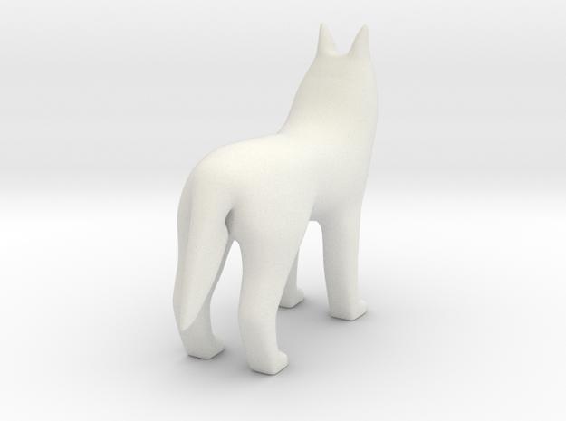 Standing Wolf in White Premium Versatile Plastic