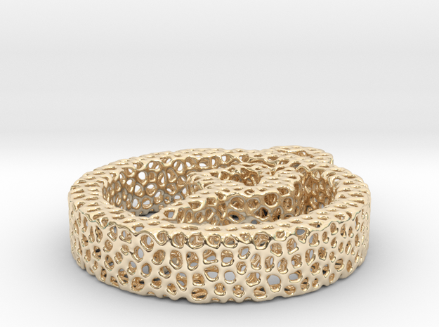 1as_voronoi yoga in 14k Gold Plated Brass