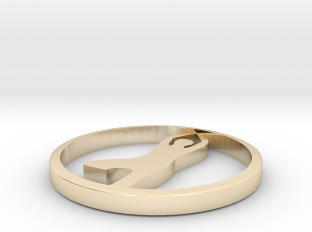 yoga  in 14k Gold Plated Brass