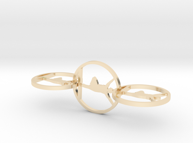 yoga earring in 14k Gold Plated Brass