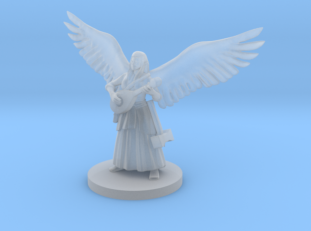 Female Half Celestial Bard in Smooth Fine Detail Plastic