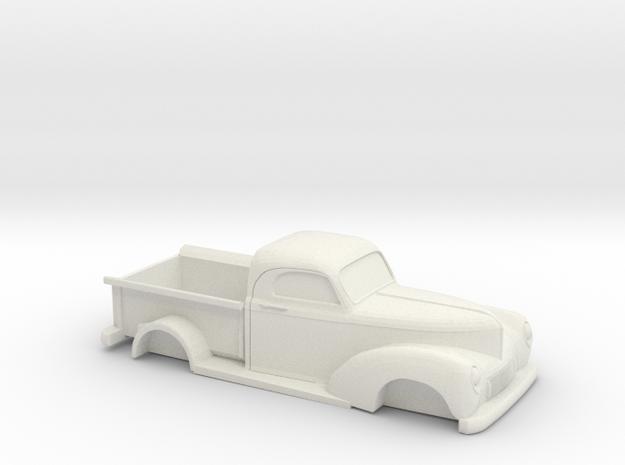 1/32 1940 Willys Overland Half Ton Truck in White Natural Versatile Plastic