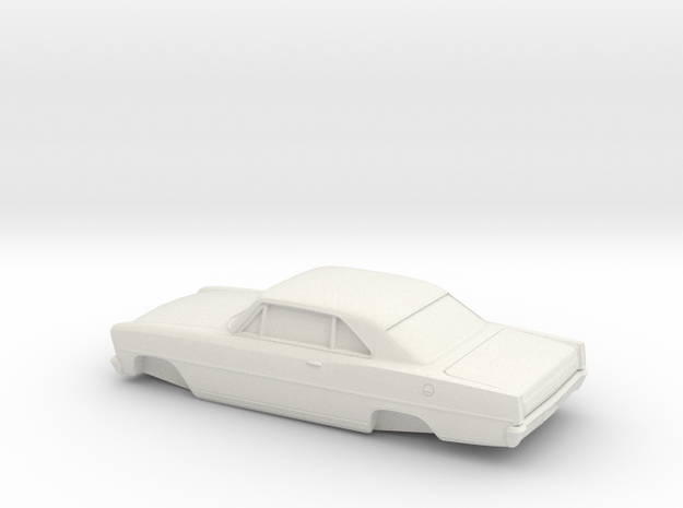 1/32 1966 Chevrolet Nova Coupe in White Natural Versatile Plastic