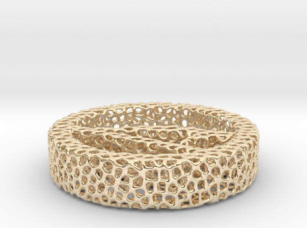 1a_voronoi yoga in 14k Gold Plated Brass